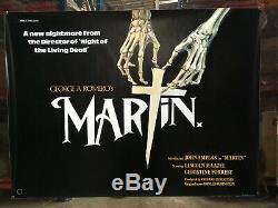 Martin 1978 Affiche De Film Britannique Quad George A Romero Horror