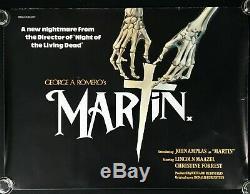 Martin Originale Quad Affiche Du Film George A Romero Lamine 1978 Horreur