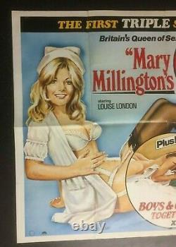 Mary Millington True Blue Confessions 1980 Cinéma Original Royaume-uni Quad Film Poster