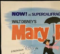Mary Poppins Original Quad Movie Poster Rerelease Julie Andrews Walt Disney 1964