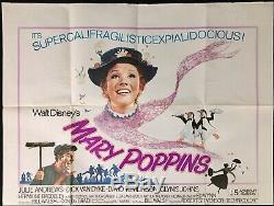 Mary Poppins Originale Quad Film Cinéma 70 Poster Walt Disney Julie Andrews Rr