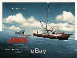 Matt Ferguson Jaws Quad Poster Film Imprimer Mondo Edmiston Roger Kastel Rare X / 35
