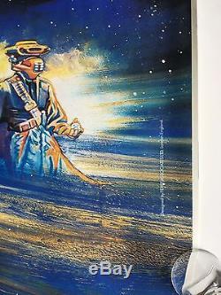 Meilleur Sur Ebay! Star Wars Retour De La Jedi 1983 Britannique Quad Film Poster Roulé