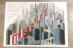Metropolis Original Britannique Quad Ultime Art Déco Affiche Du Film Boris Bilinsky