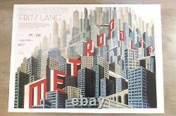 Metropolis Original British Quad Ultimate Art Déco Movie Affiche Boris Bilinsky