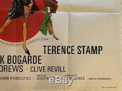 Modesty Blaise Affiche Originale Britannique De Film Britannique Quad 1966 Terence Stamp Bob Peak
