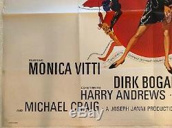 Modesty Blaise Original Britannique Film Poster Quad 1966 Terence Stamp Bob Pic