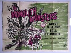 Monolith Monsters 1957, Uk Quad, Affiche De Film / Film, Originale