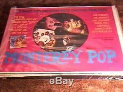 Monterey Pop Rolled British Quad Rr78 Hendrix Autres