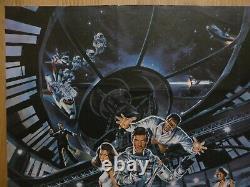 Moonraker (1979) Affiche Originale Du Quad/film Britannique, James Bond 007, Roger Moore