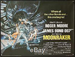 Moonraker 1979 Déplié Affiche Du Quad Exc. Condition James Bond 007 Filmartgallery