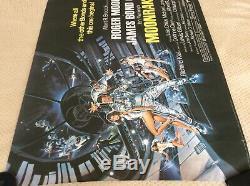 Moonraker Uk Quad Film Affiche Originale. Rare, Copie Roulé. Condition Excellente