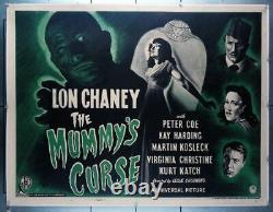 Mummy's Curse, The (1944) 16325 Lon Chaney, Jr. British Quad Movie Poster Un