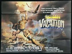 National Lampoons Vacances Original Quad Affiche De Cinéma Chevy Chase 1983