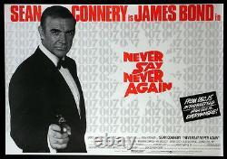 Ne Jamais Dire Plus Jamais Sean Connery James Bond 1983 British Quad Nm Rolled