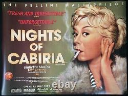 Nights Of Cabiria Original Quad Movie Poster Federico Fellini Bfi Rolled Mint
