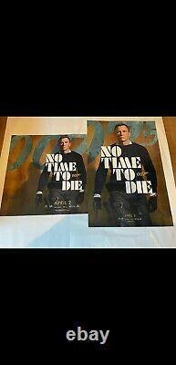 No Time To Die James Bond 007 Original Quad & One Sheet Movie Posters Avril 02