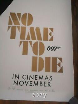 No Time To Die Original Cinema Royaume-uni Quad Film Affiche Du Film James Bond 007 Novembre