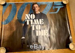 No Time To Die (date Avril) Royaume-uni Cinéma / Film Quad Poster 30 X 40 James Bond 007