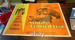 Nobody Ordered Love 1972 Ingrid Pitt Original Uk Quad Rare Film Perdu