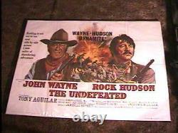 Non Vaincu Br Quad Poster'69 John Wayne Rock Hudson