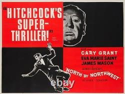 Nord Originale Du Nord-ouest, Royaume-uni Quad, Film / Affiche Du Film, Hitchcock