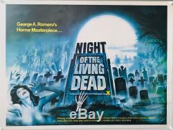 Nuit Des Britanniques Living Dead Uk Quad (1980rr) Film Affiche Originale