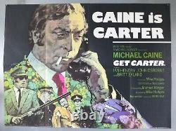 Obtenir Carter Michael Caine / Affiche De Cinéma Originale De Ian Hendry Uk Quad
