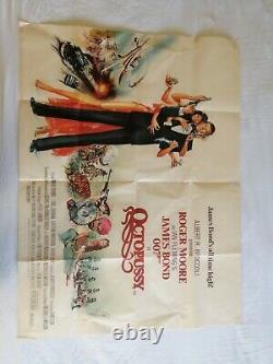 Octopussy (1983) Affiche 100% Genuine Original Uk Quad Film, James Bond