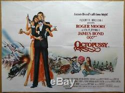 Octopussy (1983) Affiche De Film / Affiche Originale Britannique, James Bond, Roger Moore