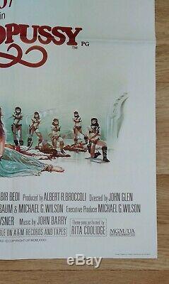 Octopussy (1983) D'origine Affiche Du Film Quad Britannique Roger Moore James Bond 007