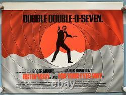 Octopussy - Pour Vos Yeux Seulement Original Uk Quad Movie Poster James Bond 007