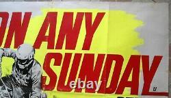 On Any Sunday Original English Uk British Quad 30x40 Bq Film Movie Affiche 1971