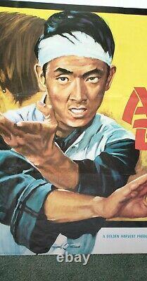 One Armed Boxer (1971) Original Uk Quad Movie Poster -v. Rare- Fantastic Kung Fu