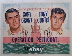 Operation Petticoat Original Uk Quad Film Poster 1959 Cary Grant, Tony Curtis