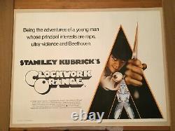 Orange D'horloge, Rare Vintage Britannique Quad 1972 Affiche De Film