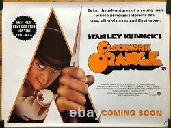 Orange Originale Relibération Affiche Du Film Quad Au Royaume-uni