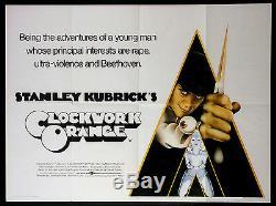 Orange Stanley Kubrick 1971: Quad Britannique Presque Neuf
