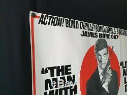 Original (1975) Double Bill James Bond Uk Affiche De Film Quad