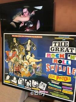 Original 1979 Quad Affiche De Film Sex Pistols The Great Rock N Roll Swindle Punk