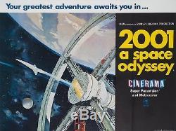 Original 2001 Une Odyssée De L'espace, Royaume-uni Quad, Affiche De Film / Film 1968, Cinerama