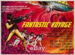 Original Fantastic Voyage, Uk Quad, Affiche De Film / Film De 1960, Tom Beauvais Linen