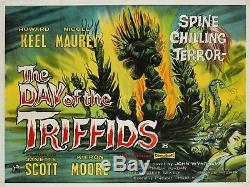 Original Le Jour Des Triffids, Quad Uk, Affiche De Film / Film 1962