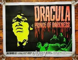 Original Marteau Dracula Prince Of Darkness Uk Quad Affiche De Film Christopher Lee