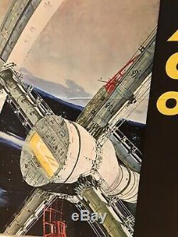 Original Mgm 2001 A Odyssey De L'espace (1968) Affiche De Film / Film Britannique Quad Style A