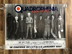 Original Original Quadrophenia Poster Film U. K. Quad 30x40 Rare Roulé