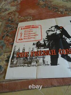 Original The Français Connection Vintage Uk Quad Film Poster 30 X 40 1971