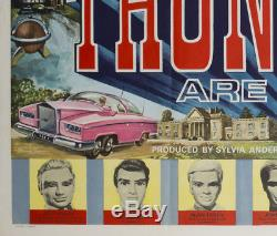 Original Thunderbirds Sont Aller! , Affiche Britannique De Film / Film 1966, Rare