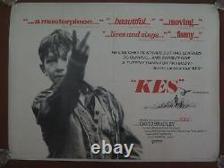 Original Uk British Quad Film Poster Kes 1969 Ken Loach Linen Soutenu