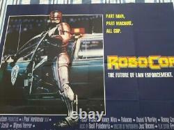Original Uk Quad Cinema / Affiche De Cinéma Robcop 40 X 30 (1987)